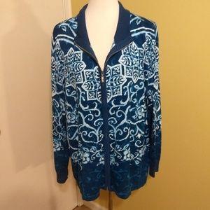 Bob Mackie wearable art jacket sz XL EUC